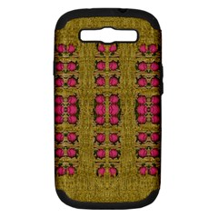 Bloom In Gold Shine And You Shall Be Strong Samsung Galaxy S Iii Hardshell Case (pc+silicone)