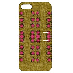 Bloom In Gold Shine And You Shall Be Strong Apple Iphone 5 Hardshell Case With Stand