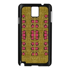 Bloom In Gold Shine And You Shall Be Strong Samsung Galaxy Note 3 N9005 Case (black)