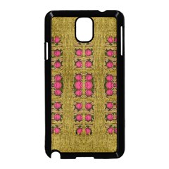 Bloom In Gold Shine And You Shall Be Strong Samsung Galaxy Note 3 Neo Hardshell Case (black)