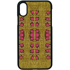 Bloom In Gold Shine And You Shall Be Strong Apple Iphone X Seamless Case (black)