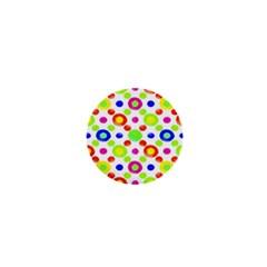 Multicolored Circles Motif Pattern 1  Mini Magnets