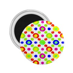Multicolored Circles Motif Pattern 2 25  Magnets
