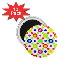 Multicolored Circles Motif Pattern 1 75  Magnets (10 Pack)