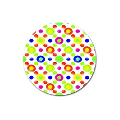 Multicolored Circles Motif Pattern Magnet 3  (round)