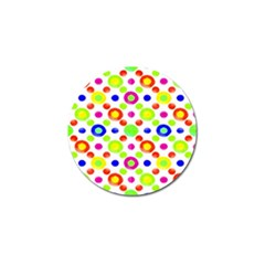 Multicolored Circles Motif Pattern Golf Ball Marker (10 Pack)