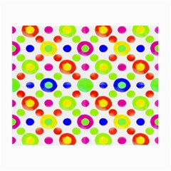 Multicolored Circles Motif Pattern Small Glasses Cloth