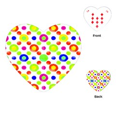 Multicolored Circles Motif Pattern Playing Cards (heart)
