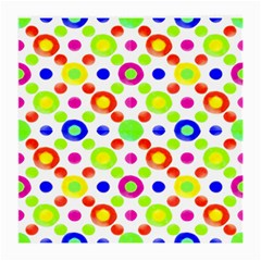 Multicolored Circles Motif Pattern Medium Glasses Cloth (2 Side)