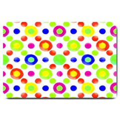Multicolored Circles Motif Pattern Large Doormat