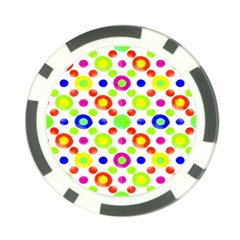Multicolored Circles Motif Pattern Poker Chip Card Guard