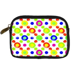 Multicolored Circles Motif Pattern Digital Camera Cases