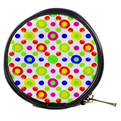 Multicolored Circles Motif Pattern Mini Makeup Bags