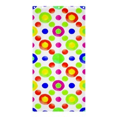 Multicolored Circles Motif Pattern Shower Curtain 36  X 72  (stall)