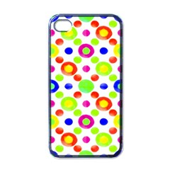Multicolored Circles Motif Pattern Apple Iphone 4 Case (black)