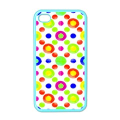 Multicolored Circles Motif Pattern Apple Iphone 4 Case (color)