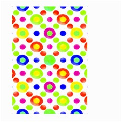 Multicolored Circles Motif Pattern Large Garden Flag (two Sides)