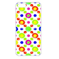 Multicolored Circles Motif Pattern Apple Iphone 5 Seamless Case (white)