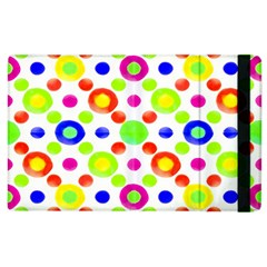 Multicolored Circles Motif Pattern Apple Ipad 2 Flip Case