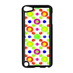 Multicolored Circles Motif Pattern Apple Ipod Touch 5 Case (black)