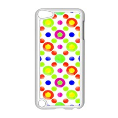 Multicolored Circles Motif Pattern Apple Ipod Touch 5 Case (white)