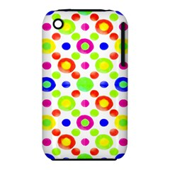 Multicolored Circles Motif Pattern Iphone 3s/3gs
