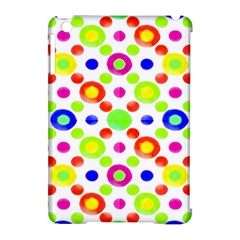 Multicolored Circles Motif Pattern Apple Ipad Mini Hardshell Case (compatible With Smart Cover)