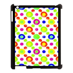 Multicolored Circles Motif Pattern Apple Ipad 3/4 Case (black)