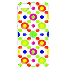 Multicolored Circles Motif Pattern Apple Iphone 5 Hardshell Case With Stand