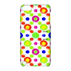 Multicolored Circles Motif Pattern Apple Ipod Touch 5 Hardshell Case With Stand