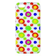 Multicolored Circles Motif Pattern Apple Iphone 5 Premium Hardshell Case