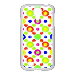 Multicolored Circles Motif Pattern Samsung Galaxy S4 I9500/ I9505 Case (white)