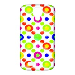 Multicolored Circles Motif Pattern Samsung Galaxy S4 Classic Hardshell Case (pc+silicone)