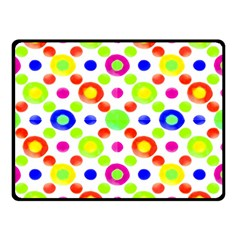 Multicolored Circles Motif Pattern Double Sided Fleece Blanket (small)