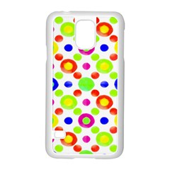 Multicolored Circles Motif Pattern Samsung Galaxy S5 Case (white)