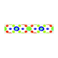 Multicolored Circles Motif Pattern Flano Scarf (mini)