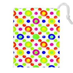 Multicolored Circles Motif Pattern Drawstring Pouches (xxl)