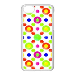 Multicolored Circles Motif Pattern Apple Iphone 7 Seamless Case (white)