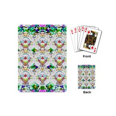 Nine Little Cartoon Dogs In The Green Grass Playing Cards (mini)