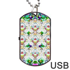 Nine Little Cartoon Dogs In The Green Grass Dog Tag Usb Flash (two Sides)