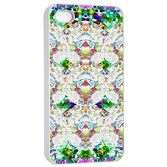 Nine Little Cartoon Dogs In The Green Grass Apple Iphone 4/4s Seamless Case (white)