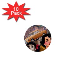 Out In The City 1  Mini Buttons (10 Pack)
