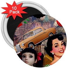 Out In The City 3  Magnets (10 Pack)