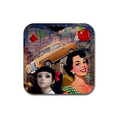 Out In The City Rubber Square Coaster (4 Pack)