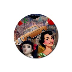Out In The City Rubber Coaster (round)