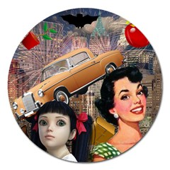 Out In The City Magnet 5  (round)