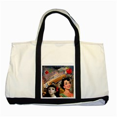 Out In The City Two Tone Tote Bag