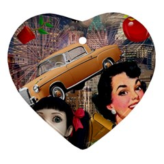 Out In The City Heart Ornament (two Sides)