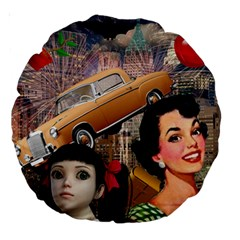 Out In The City Large 18  Premium Round Cushions