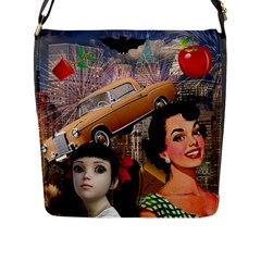 Out In The City Flap Messenger Bag (l)